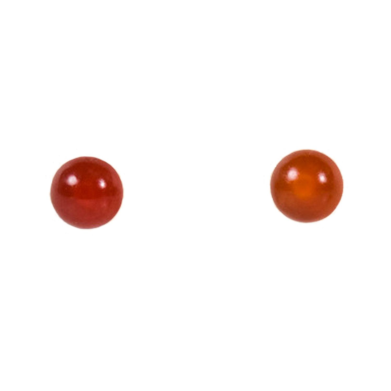 画像3: ネコポスOK ノンホールピアス 樹脂 カーネリアン 4mm 天然石 まるでピアスみたいなイヤリング ノンアレルギー 痛くなりにくい 落ちにくい