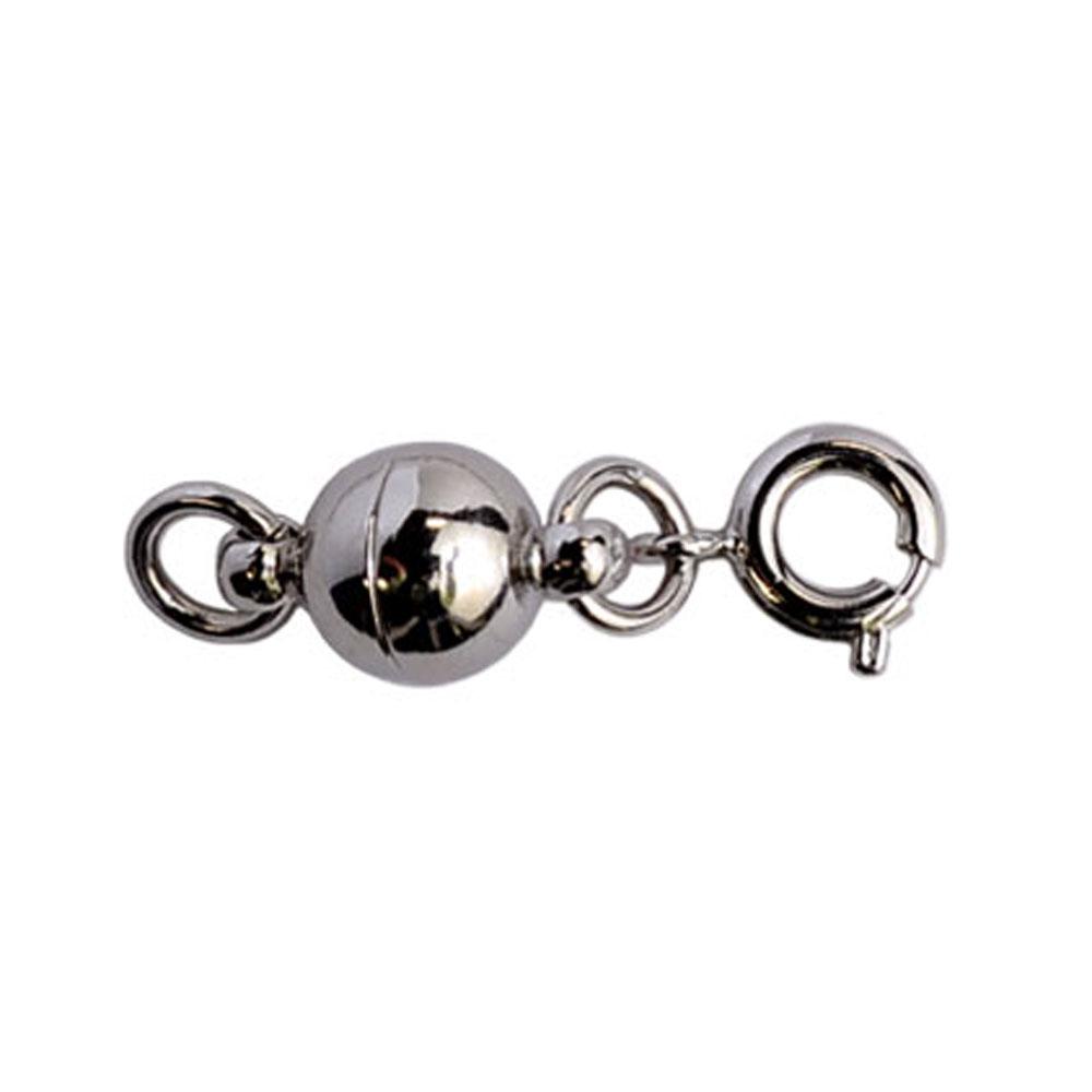 画像1: ネコポスOK  マグネット留め具 シルバー 単品販売 つけにくいネックレスのイライラを解消 マグネットパーツ エンドパーツ 磁石金具