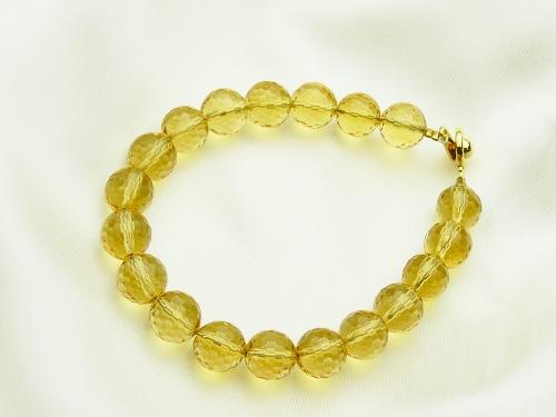 画像1: 【ネコポスOK】「富と財産の石」黄水晶(シトリン)パワーストーンブレス9mm