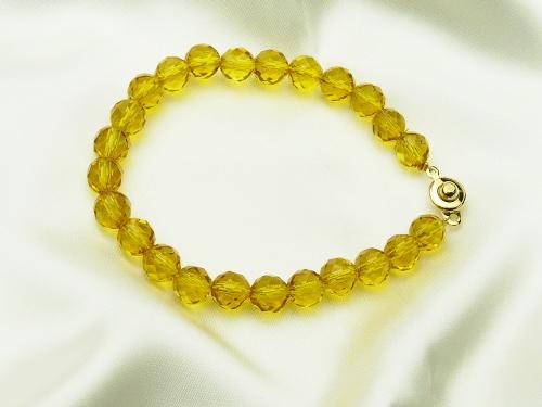 画像1: 【ネコポスOK】「富と財産の石」黄水晶(シトリン)パワーストーンブレス8mm(L)