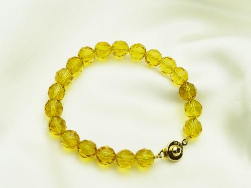 画像1: 【ネコポスOK】「富と財産の石」黄水晶(シトリン)パワーストーンブレス8mm(S)