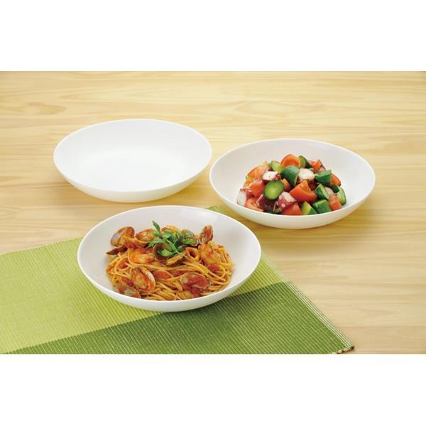 画像2: ボルミオリロッコ じょうぶな白い深皿 5枚組 セット 強化ガラス 白い食器 盛皿 お皿 丸皿 ボルミオリ・ロッコ【ネコポス不可】