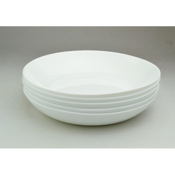 画像4: ボルミオリロッコ じょうぶな白い深皿 5枚組 セット 強化ガラス 白い食器 盛皿 お皿 丸皿 ボルミオリ・ロッコ【ネコポス不可】