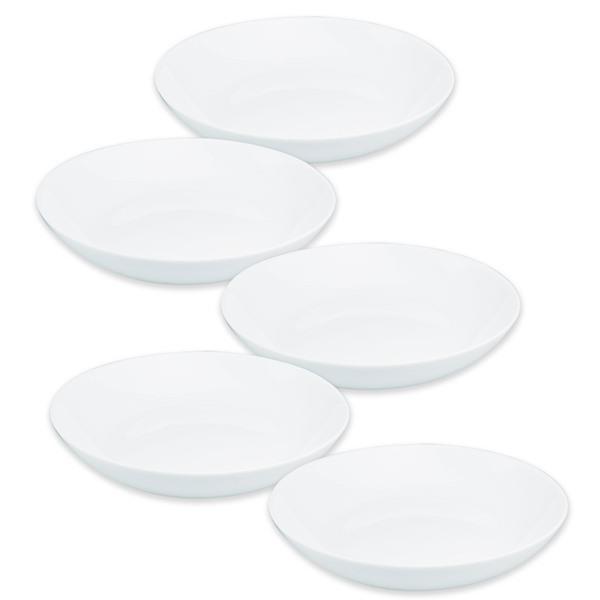画像5: ボルミオリロッコ じょうぶな白い深皿 5枚組 セット 強化ガラス 白い食器 盛皿 お皿 丸皿 ボルミオリ・ロッコ【ネコポス不可】