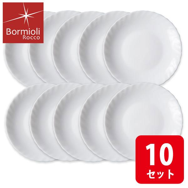 画像1: ボルミオリロッコ じょうぶな白い取皿 10枚組 セット 強化ガラス 白い食器 小皿 お皿 丸皿 ケーキ皿 銘々皿 ボルミオリ・ロッコ【ネコポス不可】
