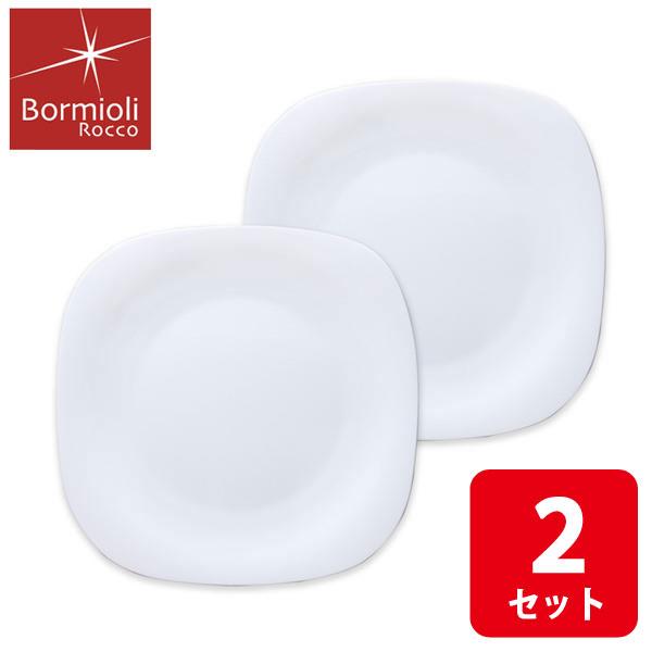 画像1: ボルミオリロッコ じょうぶな白いワンプレート パルマ 2枚組 セット 強化ガラス 白い食器 盛皿 お皿 角皿 大皿 ボルミオリ・ロッコ【ネコポス不可】