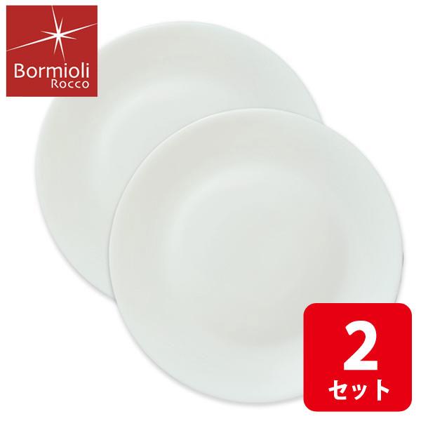 画像1: ボルミオリロッコ じょうぶな白い大皿 2枚組 セット 強化ガラス 白い食器 盛皿 お皿 丸皿 ボルミオリ・ロッコ【ネコポス不可】