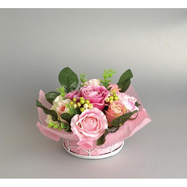 画像3: テーブルアレンジフラワー 造花 ピンクローズ 薔薇 バラ かわいい【ネコポス不可】