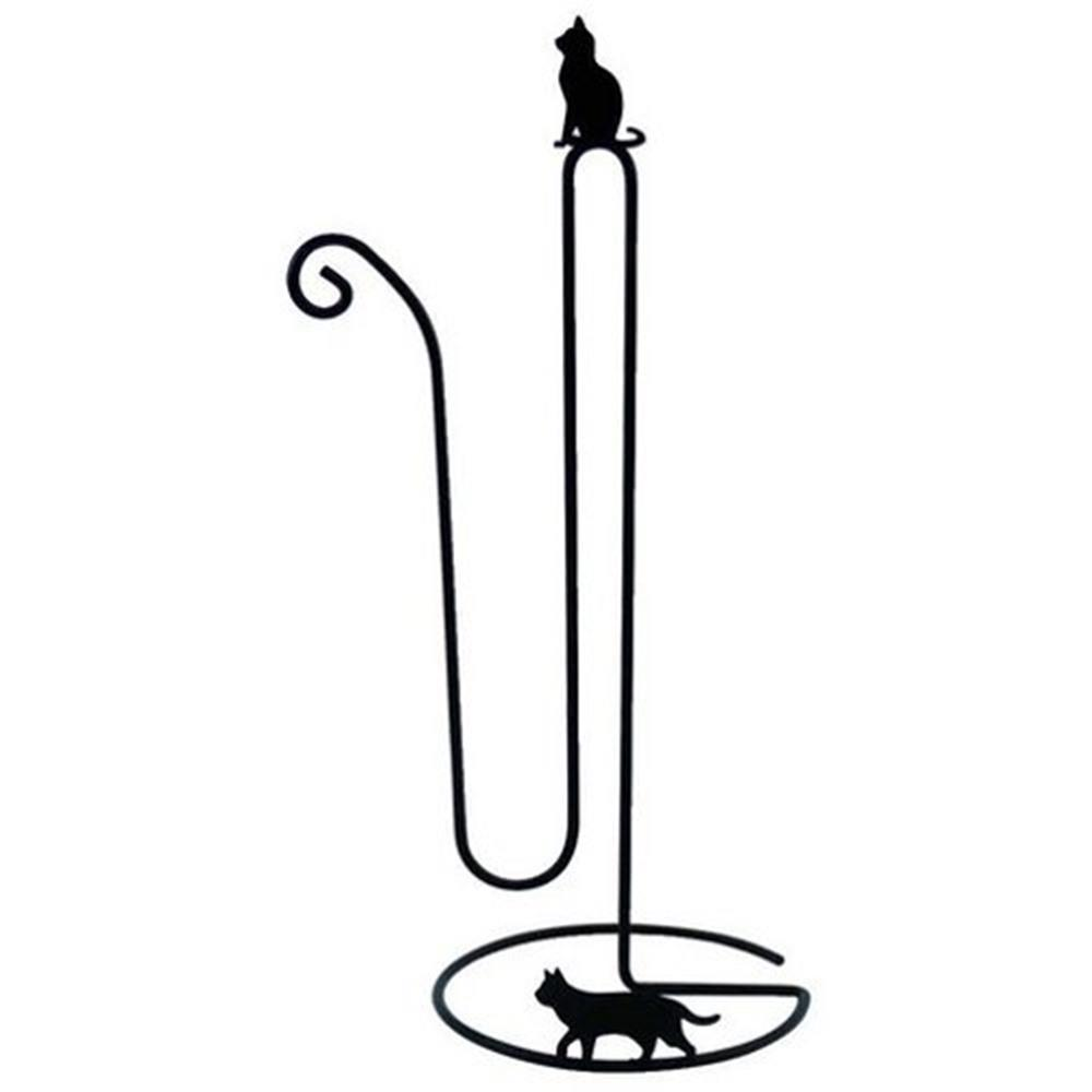 画像1: Abeille トイレットペーパーストッカー ネコ 猫 ねこ トイレ収納 シンプル かわいい おしゃれ シルエット 黒猫 ネコポス不可
