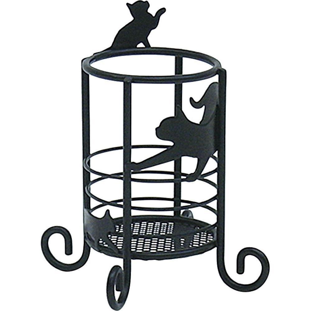 画像1: Abeille マルチスタンド SS ネコ 猫 ねこ ラック 小物入れ 見せる収納 シンプル かわいい おしゃれ シルエット 黒猫 ネコポス不可